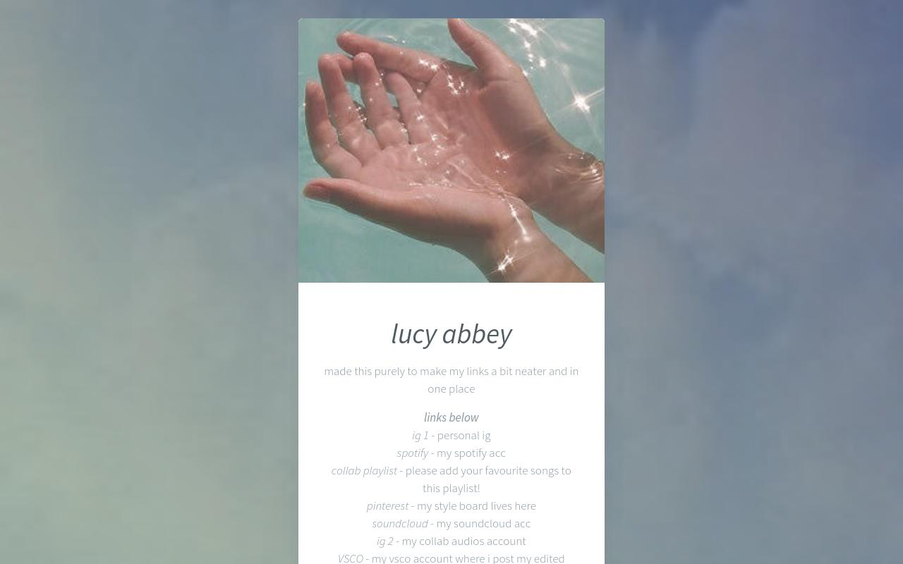 lucy abbey links page